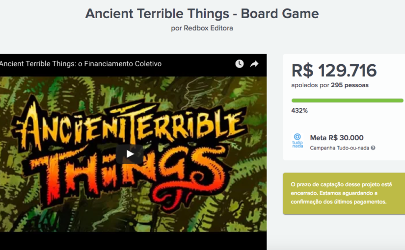Ancient Terrible Things termina financiamento coletivo com 432% de metas